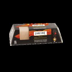 Foie gras de canard entier Sud-Ouest dégustation LABEYRIE barquette 130g