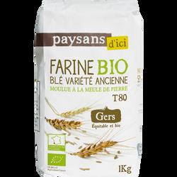 Farin de blé variété ancienne touselle Gers Bio PAYSANS, 1kg