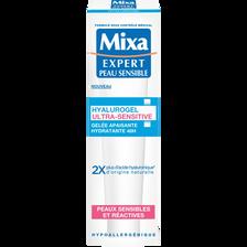 Soin gelée apaisante hydratante 48h pour peaux sensibles hyalurogel MIXA, tube de 40ml