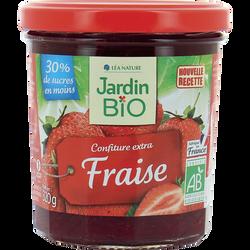 Confiture fraises allégée en sucre bio JARDIN BIO 320g