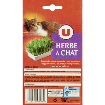 Herbes pour chat U, 190g
