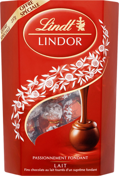 Lindt Boule Chocolat Lait Fourré Fondant Lindor, 237g