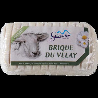 Brique du Velay au lait pasteurisé de brebis 28%mg 180g