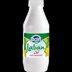 Lait pasteurisé fermenté Laban LACTEL, bouteille de 1l