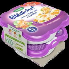 Blédichef risotto aux petits pois et carottes BLEDINA, dès 12 mois, 2x230g