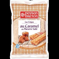 Crêpes fourrées au caramel au beurre salé PAYSAN BRETON, x6 soit 180g