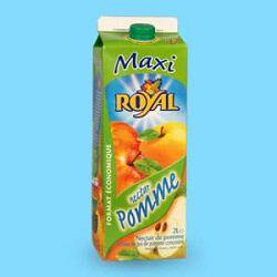 Boisson nectar pomme, ROYAL, brique de 2 L