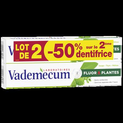 Dentifrice Fluor & Plantes VADEMECUM, 2x75ml