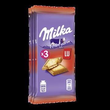 Milka Chocolat Au Lait Petit Lu Milka Tablette 3x87g