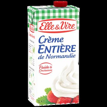 Elle & Vire Elle&vire Crème Entière De Normandie 30%mg - Brique 1l