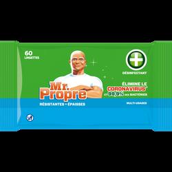 Lingettes antibactériennes MR PROPRE x60