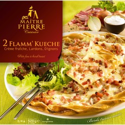 Flamm'kueche MAITRE PIERRE, 2 pièces de 260g