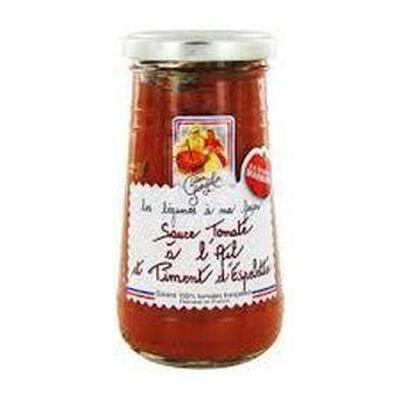 Sauce tomate à l'ail et au piment d?Espelette 250g