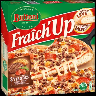 Pizza Fraîch' Up 3 viandes BUITONI, 590g