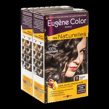 Eugène Color Coloration Permanente Châtain Clair N°3 Eugène Color, X2