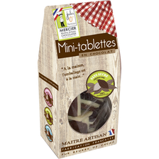 Mini tablettes chocolat noir sans sucre JULES O FOURNEAUX, 150g