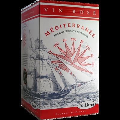 Vin rosé de pays de Méditerrannée, fontaine à vin de 10l