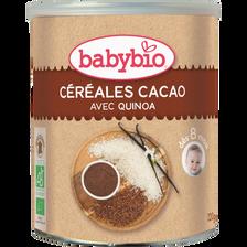Céréales infantiles instantanées au cacao BABYBIO, dès 8 mois, 220g
