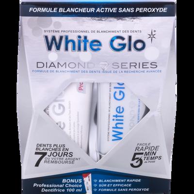 Coffret dentifrice cure blancheur diamond series WHITEGLO, tube de 100ml