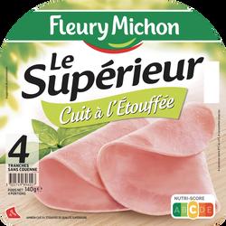 Jambon supérieur cuit à l'étouffée FLEURY MICHON 4 tranches 140g
