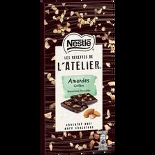 Chocolat noir amandes grillées LES RECETTES DE L'ATELIER, 115g