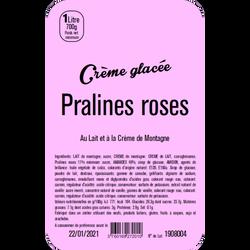 Crème glacée aux pralines rosesLA TURBINE A SAVEURS, 1 litre