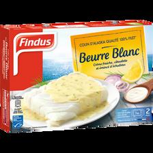 Filet de colin d'Alaska citron beurre blanc FINDUS 400g