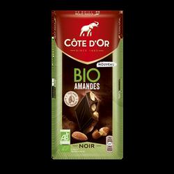 Chocolat noir aux amandes bio COTE D'OR tablette 150g