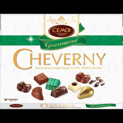 Assortiment de chocolats fins Cheverny Gourmand CEMOI, boîte de 500g