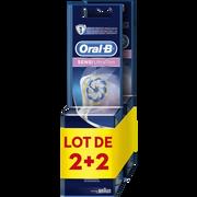 Oral B Brossettes De Rechange Pour Brosse À Dents Électrique Rechargeable Ultra Thin Sensitive Oral B, 2 Paquets De 2 Recharges