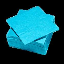 Serviette U MAISON 33x32cm 2 plis turquoise x100
