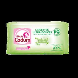 Lingettes pour bébés Natural Caresse CADUM, 2x60