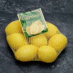 Citron jaune verna, calibre 4/5, catégorie 1, non traité après récolte, Espagne, girsac 1kg