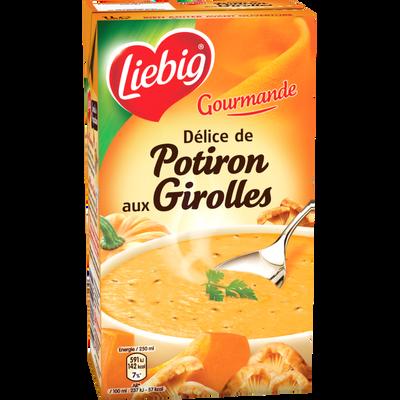 """Potage délice de potiron aux girolles """"Les Gourmandes"""" LIEBIG, 1l"""