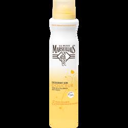Déodorant soin huile essentielle de sauge et karité, efficacité 24h, LE PETIT MARSEILLAIS, spray 200ml