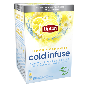 Lipton Lipton Infuse À Froid Citron Camomille 15 Sachets Pyramid 35g