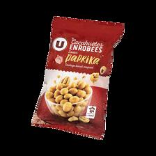 Cacahuètes enrobées goût paprika U, sachet de 150g