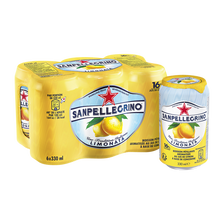 Boisson gazeuse arômatisée limonata ABC SAN PELLEGRINO, 6x33cl