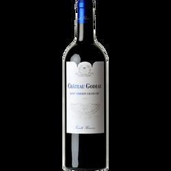 Vin rouge AOP Saint Emilion grand cru CHATEAU GODEAU, bouteille de 75cl