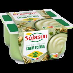 Spécialité au soja sucrée saveur pistache SOJASUN, 4x100g