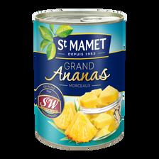 St Mamet Grand Ananas Sirop Morceaux , Boîte 3/4, 345g