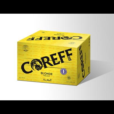 Bière blonde COREFF 4,5°, pack bouteille 20x25cl