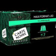 Café espresso classique n°7 CARTE NOIRE, 30 capsules, 159g