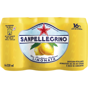 San Pellegrino Boisson Gazeuse Arômatisée Au Jus De Citron San Pellegrino, 6x33cl