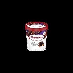 Crème glacée Chocolat Amandes caramélisées HÄAGEN-DAZS, pot de 392g