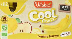 Compote COOL Fruits Pomme de Provence Banane 12 gourdes de 90g VITABIO