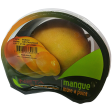 Mangue kent, calibre 9, Pérou, barquette 1 fruit