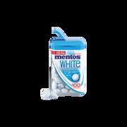 Mentos Chewing-gum Sans Sucre White Goût Menthe Mentos, Boîte De 100 Dragéessoit 106g
