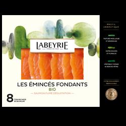 Emincés saumon fumé Atlantique bio LABEYRIE, x8, 200g