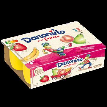 Danone Petit Suisse Fraise-pêche Poire-banane Danonino, 6x100g